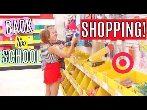 Back to School Supply Shopping & DIY Sleepover