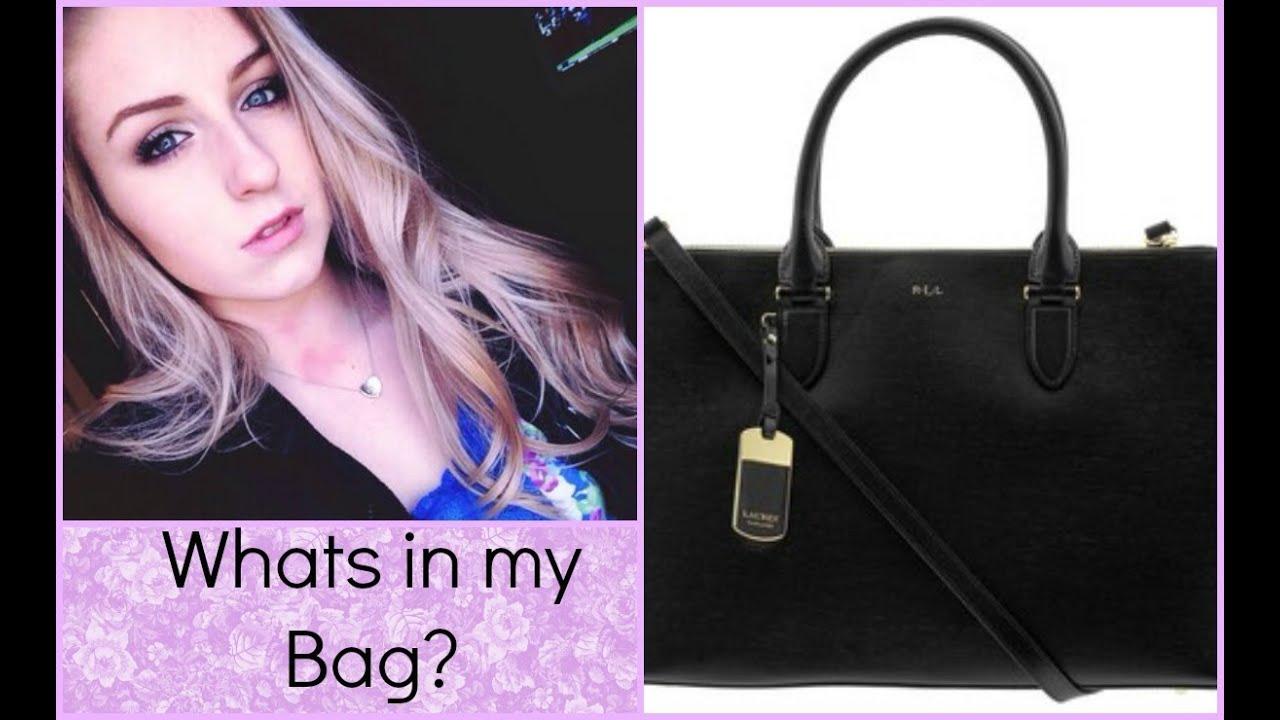 Whats in my Bag? ?Ralph Lauren Newbury Satchel?
