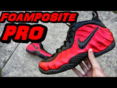 e303bb3e2 ... switzerland nike foamposite pro university red black review on foot  d66f5 9f446 ...