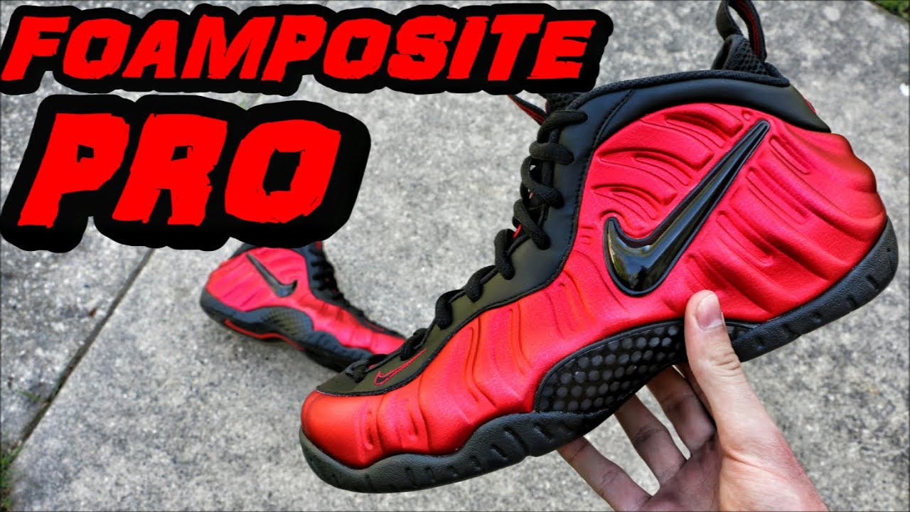65a2751c1da Nike Foamposite Pro University Red + Black - Review + On Foot - YouTube