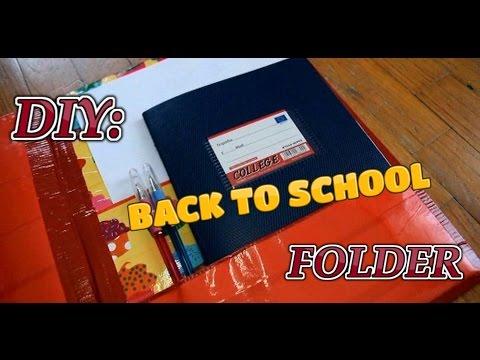 DIY Pocket Folder - Back To School DIY -Tape Crafts