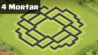 Clash of Clans - Town Hall 8 (TH8) Trophy / War Base (Halloween Update / 4 Mortars)