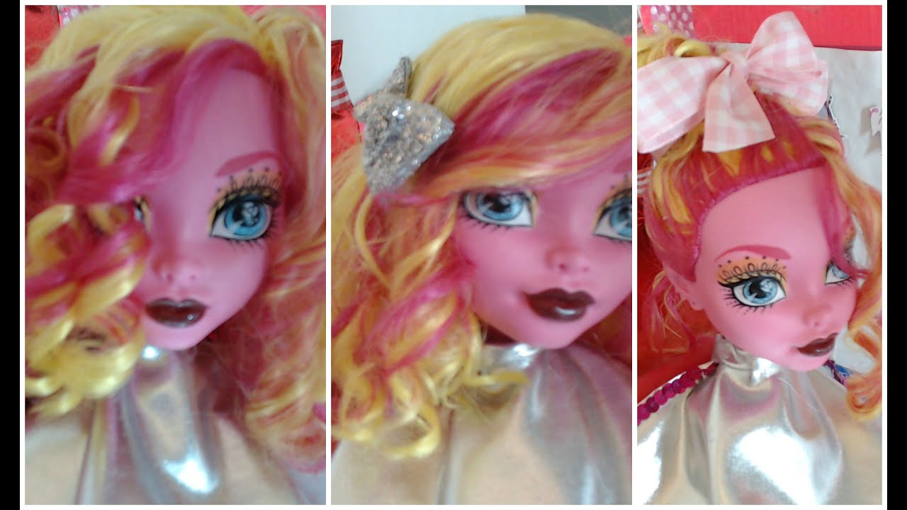 Cute hairstyles for barbie dolls - Cute Dolls And Girls Hairstyles How To Style A 17 Inches Monster High Doll Hair Long Bob Line Youtube