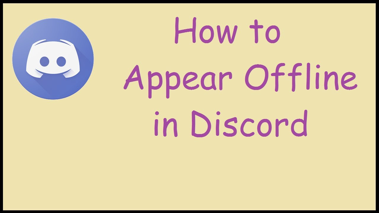 How To Appear Offline In Discord Tutorial Youtube
