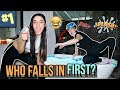*FREEZING* Bath & Pool Challenge!! WHO FELL IN FIRST??