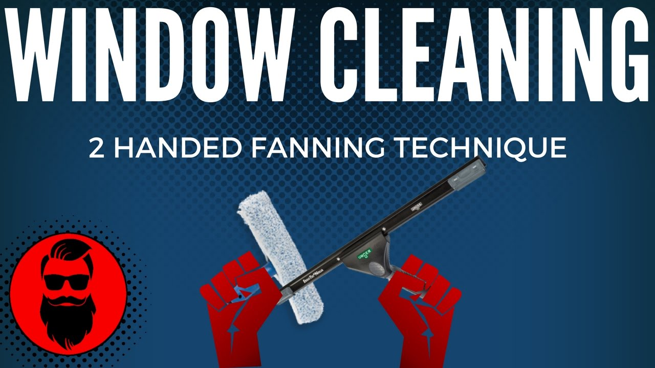 How To Clean Windows Professionally Two Handed Technique