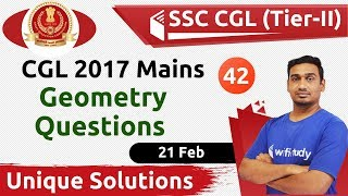 6:15 PM SSC CGL 2018 (Tier II) | Maths by Santosh Sir | CGL 2017 Mains Geometry Ques with Solution