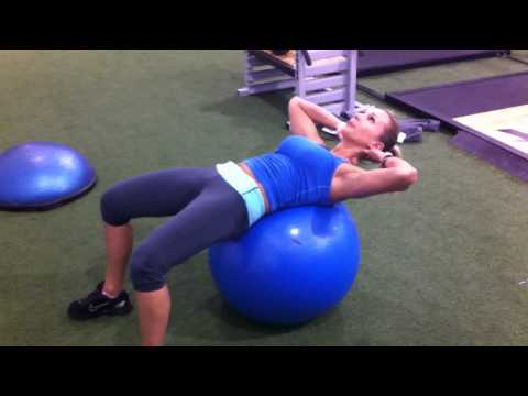 Stomach Exercises For Women: Ball Sit Ups