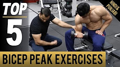 Physical Exercise Video- Top 5 BICEP PEAK Exercises