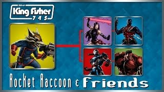 Marvel Avengers Alliance: Rocket Raccoon and Friends (PVP Gameplay)