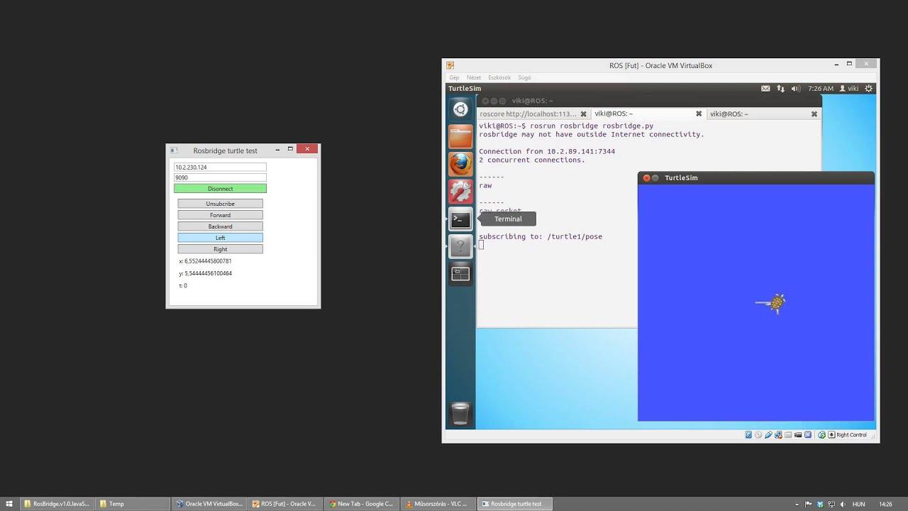 RosBrigde client for windows in C#