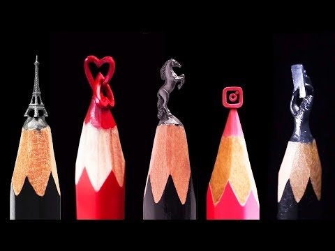 THIS ARTIST TURNS PENCIL TIPS INTO INCREDIBLE SCULPTURES thumbnail