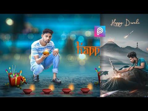 PicsArt Happy Diwali Special Photo editing Tutorial | Happy Diwali photo editing |  2019 thumbnail