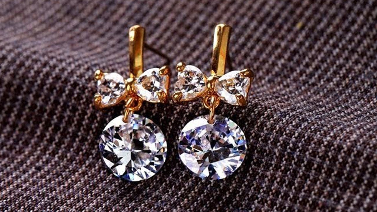 Small Diamond Earrings Designs 2019 Indian Jewellery Design