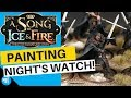 How To Speed Paint Night's Watch   A Song Of Ice And Fire Miniatures