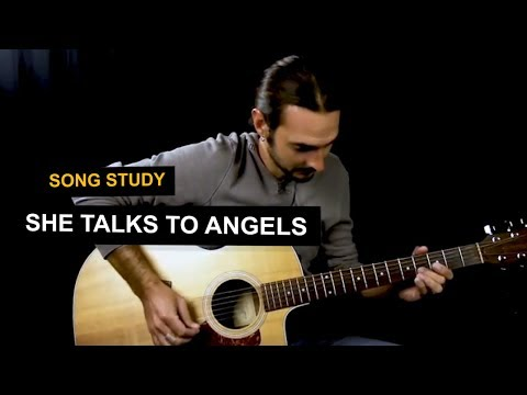 She Talks To Angels guitar lesson - Open E tuning - Black Crowes