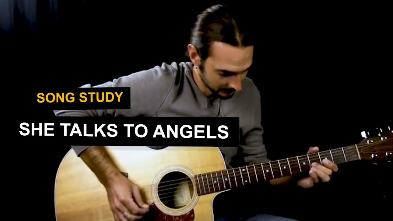 She Talks To Angels guitar lesson   Open E tuning   Black Crowes