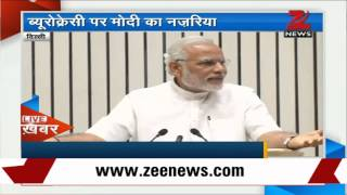PM Narendra Modi addresses civil servants in New Delhi