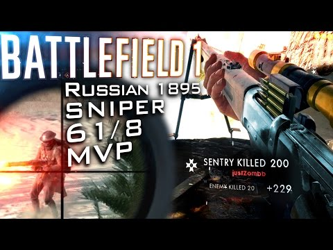 BATTLEFIELD 1: 60 KILL SNIPER MVP -  Full Match PC Gameplay [60fps]