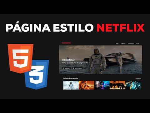 Programa Una Página Web Estilo NETFLIX Con HTML 5 Y CSS 3