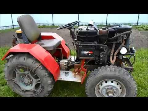 видео: Самодельный минитрактор с двигателем ОКА.  Обзор