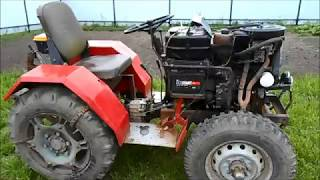 Самодельный минитрактор с двигателем ОКА.  Обзор