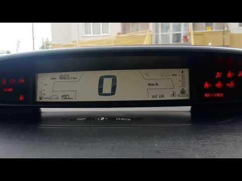 Citroen C4 eski kasa bakim km si sıfırlama