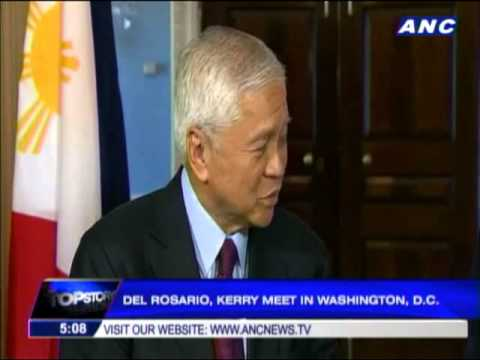 Del Rosario, Kerry tackle China dispute