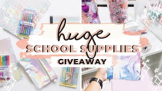 HUGE School Supplies Haul + GIVEAWAY! BACK TO SCHOOL ESSENTIALS 2019