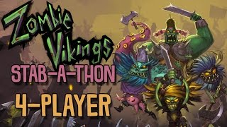 Zombie Vikings: Stab-a-thon - Kitty on a Stick (4 Player Gameplay)