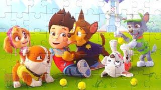Щенячий патруль - Райдер играет с щенками - Собираем пазлы для детей Paw Patrol | Merry Nika