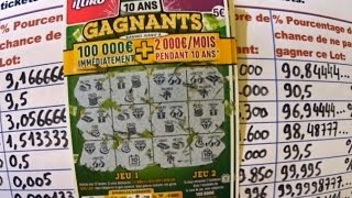 10 ANS GAGNANTS le nouveau jeu à gratter FDJ. Combien de chances de gagner?