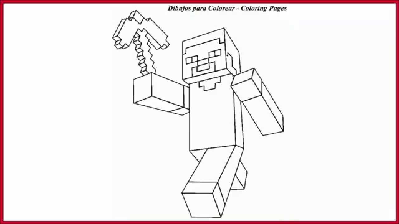 Dibujos Para Colorear De Steve Minecraft L Drawings Coloring Minecraft Steve