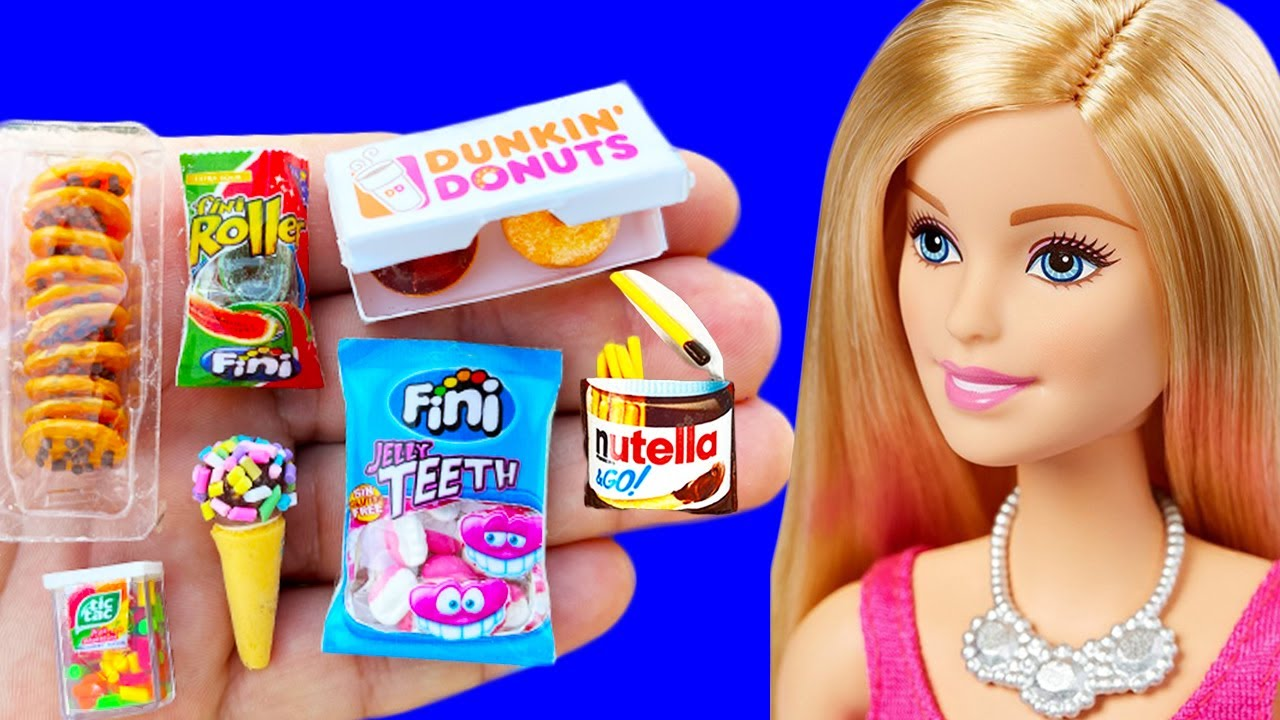 DIY How to Make Polymer Clay Miniature Food  DIY Easy Polymer Clay tutorial for Barbie !!!