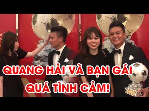Quang Hải được Bạn Gái Lau Mồ Hôi, Cùng Tạo Dáng Bên Quả Bóng Bạc Việt Nam 2019 | NEXT SPORTS