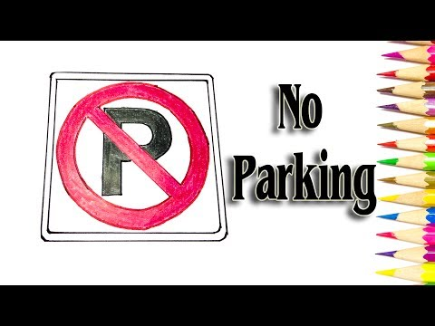 How to Draw Reflective Traffic Signs   No Parking - SLD
