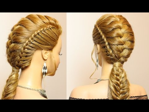 Hairstyles for long medium hair with braids tutorial