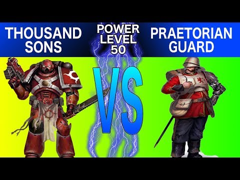 Warhammer 40k 8th Edition Battle Report : Thousand Sons vs. Praetorian Guard
