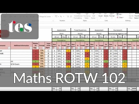 maths-rotw-102---ultimate-excel-markbook