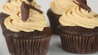 Chocolate Peanut Butter Cupcakes Recipe Demonstration - Joyofbaking.com