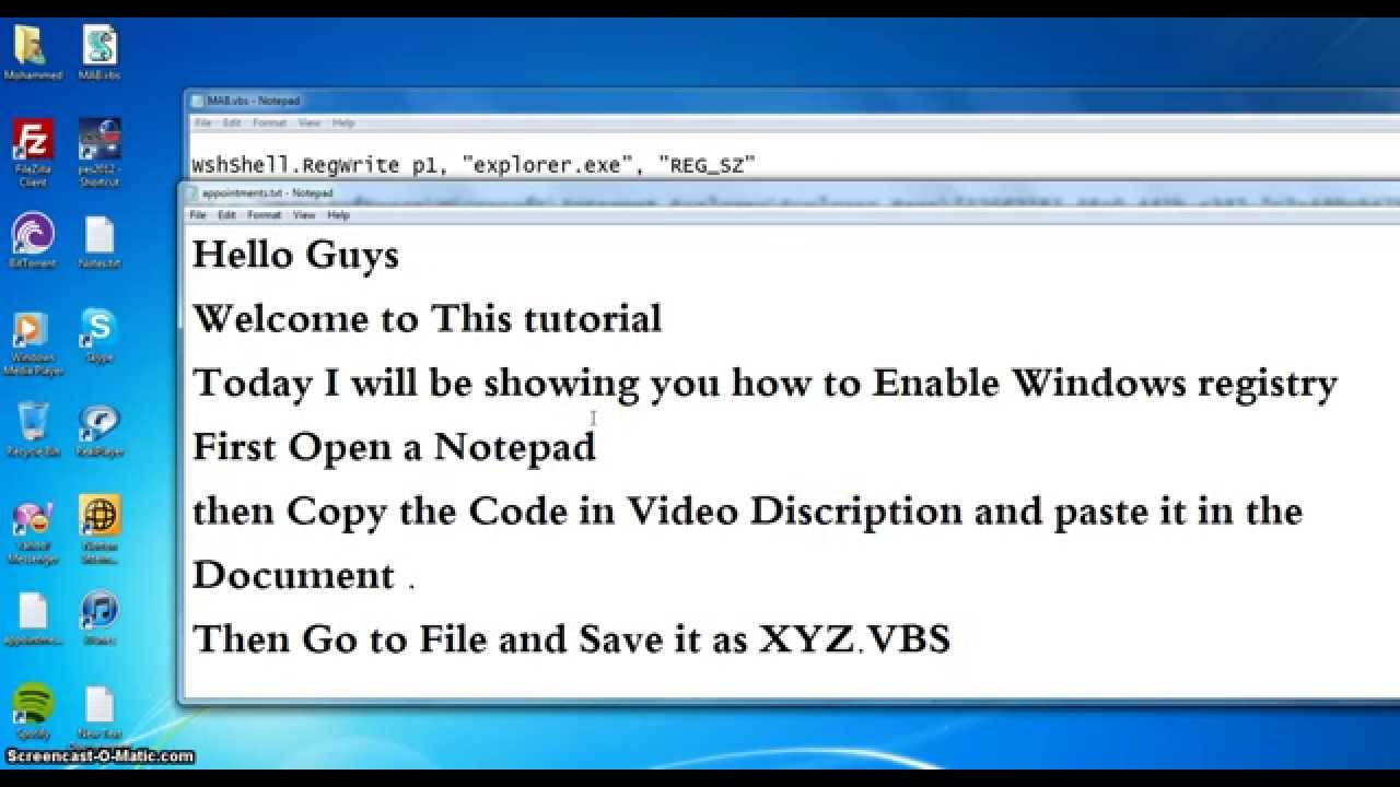 How to open the registry Windows 7 30