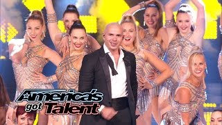 "Pitbull: Mr. Worldwide Sings ""Fireball"" With The Rockettes - America's Got Talent 2014 Finale"