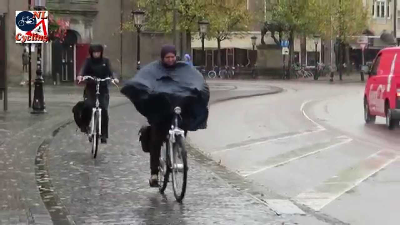 utrecht netherlands cycling in the rain youtube