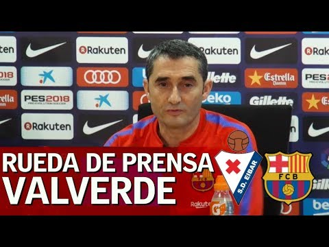 Eibar - Barcelona | Rueda de prensa previa de Ernesto Valverde | Diario AS