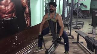 Ashok phal desai Marathi actor work out at muscle factory fitness centre