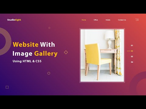 How To Make A Website With Image Gallery Using Html Css Website Design Tutorial Youtube