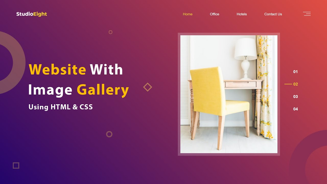 How To Make A Website With Image Gallery Using HTML CSS