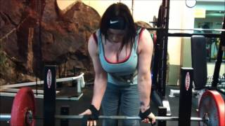 Diana Ball at the gym. 93kg/205lbs. How big are my biceps??