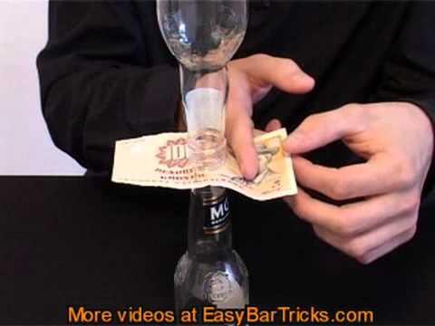 Mẹo lấy tờ tiền không rớt chai - simso.com.vn