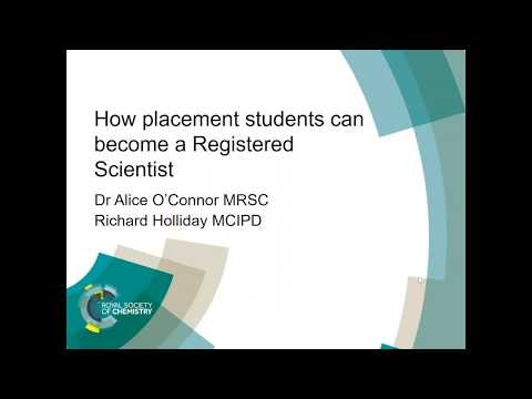ChemCareers 2018 How placement students can become a Registered Scientist (RSci)